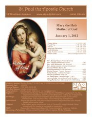 January 1 - St. Paul the Apostle Church