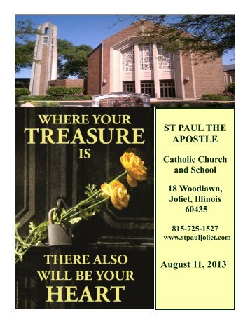August 11 - St. Paul the Apostle Church - Diocese of Joliet