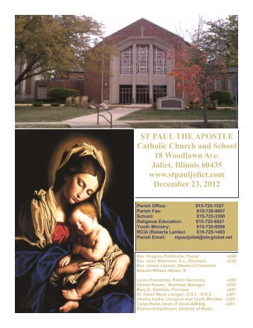 December 23 - St. Paul the Apostle Church - Diocese of Joliet