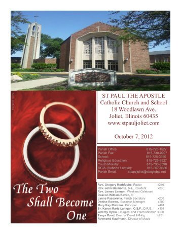 October 7 - St. Paul the Apostle Church