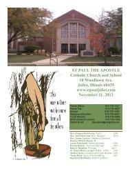 November 11 - St. Paul the Apostle Church