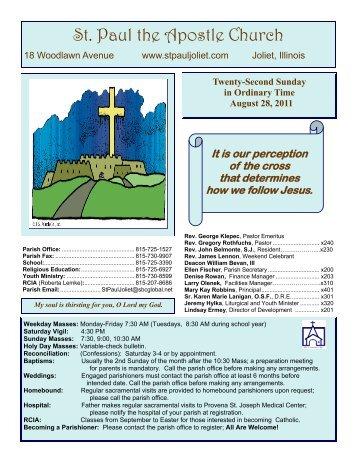August 28 - St. Paul the Apostle Church