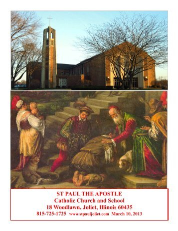 March 10 - St. Paul the Apostle Church - Diocese of Joliet