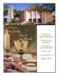 ST PAUL THE APOSTLE June 2, 2013 - St. Paul the Apostle Church