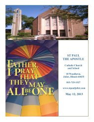 May 12 - St. Paul the Apostle Church - Diocese of Joliet