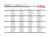 Liturgy Schedule: October-December 2013 - St. Paul the Apostle ...
