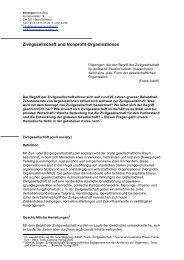 Zivilgesellschaft und Nonprofit-Organisationen - berwegerconsulting ...