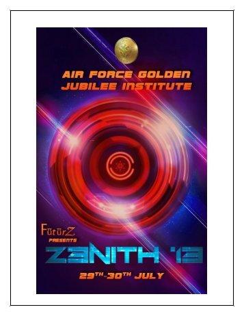 Zenith 2013 - Air Force Golden Jubilee Institute