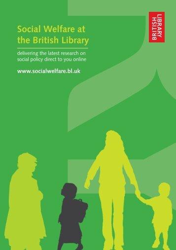 Portal Promotional Leaflet - Social Welfare Portal - British Library