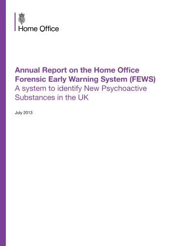 annual report on the home office forensic early warning system home office early