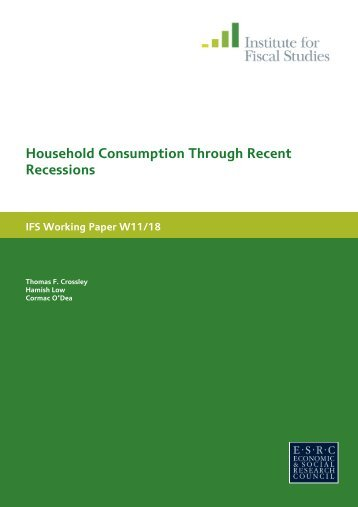Household consumption through recent recessions - Social Welfare ...
