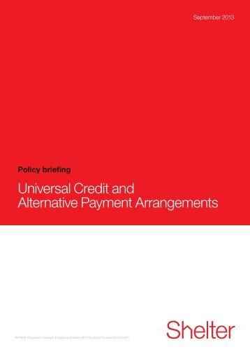 Universal Credit and Alternative Payment Arrangements