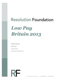 Low Pay Britain 2013 - Resolution Foundation
