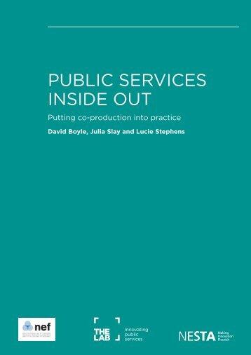 PUBLIC SERVICES INSIDE OUT - Nesta