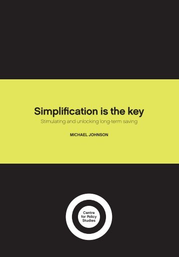 Simplification is the key - Centre for Policy Studies