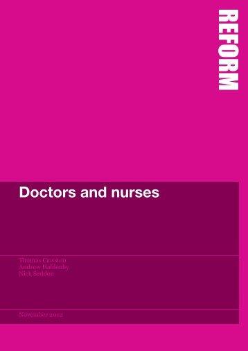 Doctors and nurses - Reform