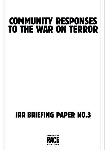 Community Responses to the War on terror - Social Welfare Portal