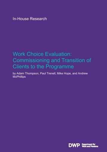 Work Choice evaluation - Gov.UK