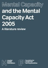 A literature review - Mental Health Foundation