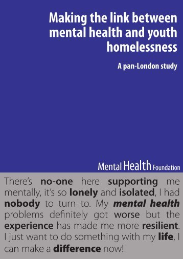 Making the link between mental health and youth homelessness