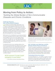 Tackling The Global Burden Of Non-Communicable Diseases ... - URC