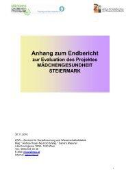 Anhang zum Endbericht - Frauengesundheitszentrum Graz