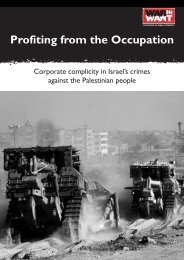 Profiting from the Occupation - War on Want