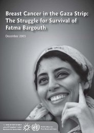 Breast Cancer in the Gaza Strip - Israel's Occupation
