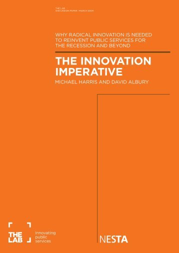 THE INNOVATION IMPERATIVE - Nesta