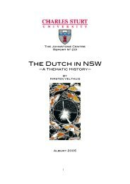 The Dutch in NSW - Department of Environment and Climate Change