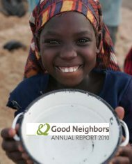 ANNUAL REPORT 2010 - Good Neighbors