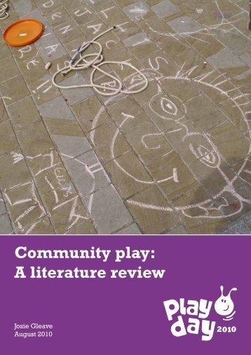 Community play: a literature review - Social Welfare Portal