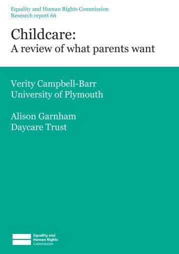 Childcare: - Digital Education Resource Archive (DERA) - Institute of ...