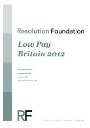 Download Low pay Britain 2012 - Resolution Foundation