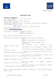 Curriculum Vitae - University of Pécs - Faculty of Law