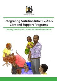 Integrating Nutrition Into HIV/AIDS Care and Support Programs - URC