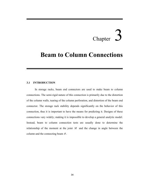 Beam to Column Connections