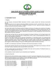 2013 Rules - Hawaiian International Billfish Tournament
