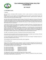 47th HAWAIIAN INTERNATIONAL BILLFISH TOURNAMENT