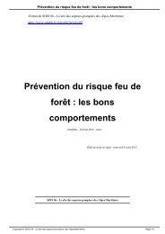 Prévention du risque feu de forêt : les bons comportements - SDIS 06