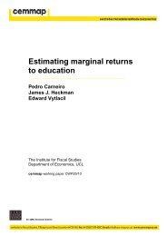 Estimating marginal returns to education - Cemmap