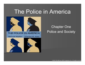 The Police in America - WSU Vancouver Directory