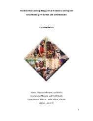 Malnutrition among Bangladeshi women in ultra poor households ...