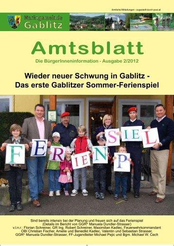 Amtsblatt 2/12 (5,76 MB) - .PDF - Gablitz