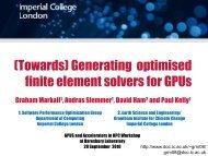 Generating optimised finite element solvers for GPUs. - STFC's ...