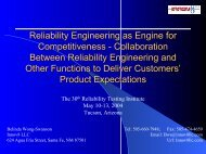 Reliability Engineering, Engine to Competitiveness - Innov8 LLC