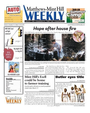Matthews-Mint Hill - Carolina Weekly Newspapers