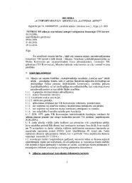 Asociācijas noteikumos - Latvijas auto