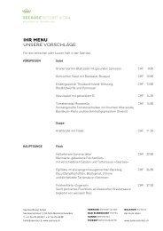 Menüvorschläge einfach 2013 - Balance Hotels