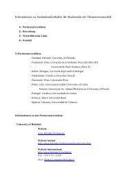 Informationen zu Auslandsaufenthalten für Studierende der ...